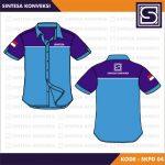 desain baju seragam kerja biru