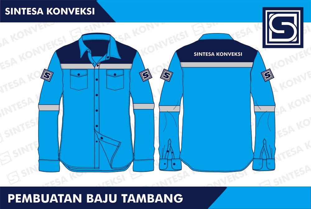desain baju seragam tambang