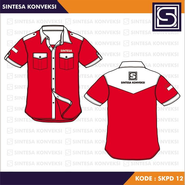 baju kantoran merah putih