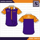 Baju Kerja Simple Code – SKPD 05 – Biru, Orange, List Putih