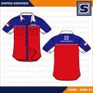 Baju Kerja Keren Code SKPD 07 – Warna Biru, Merah, Dan Putih