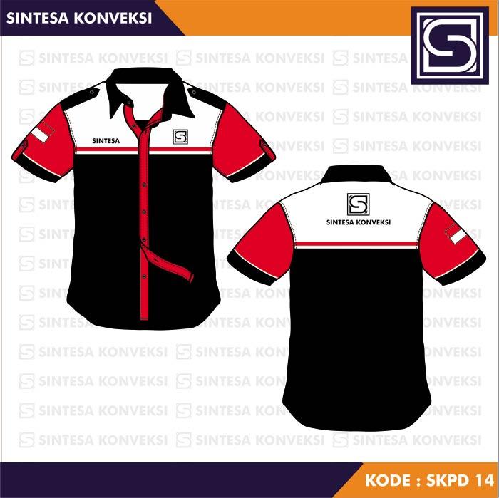 Baju Kerja Pdh Terbaik Code Skpd 14 Warna Hitam Merah Putih