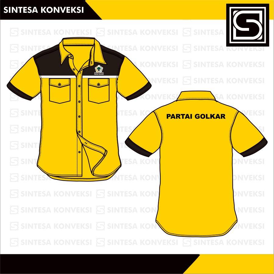 desain baju kemeja Golkar