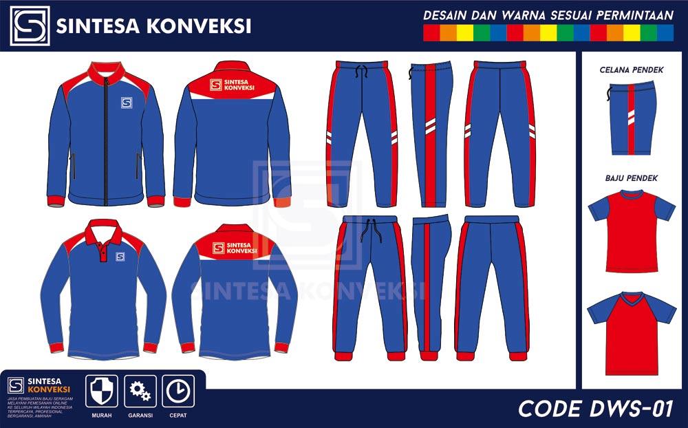 desain baju olahraga terbaik warna biru