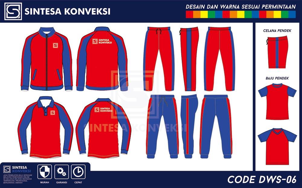 desain baju olahraga terbaik warna merah