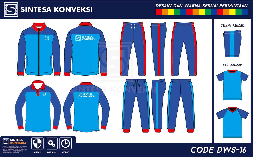 desain training spak olahraga biru muda