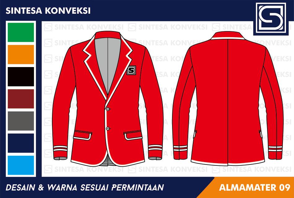 jas almamater warna merah