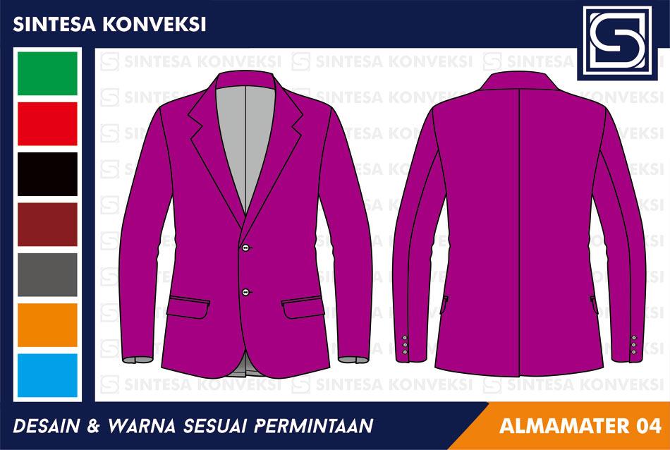 jas almamater warna ungu pink
