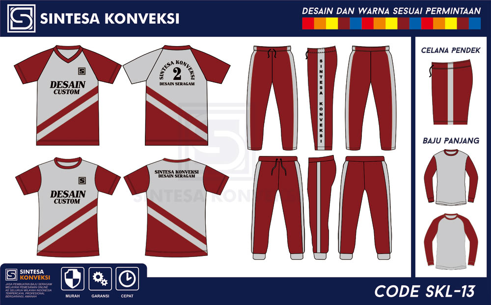 seragam olahraga SD