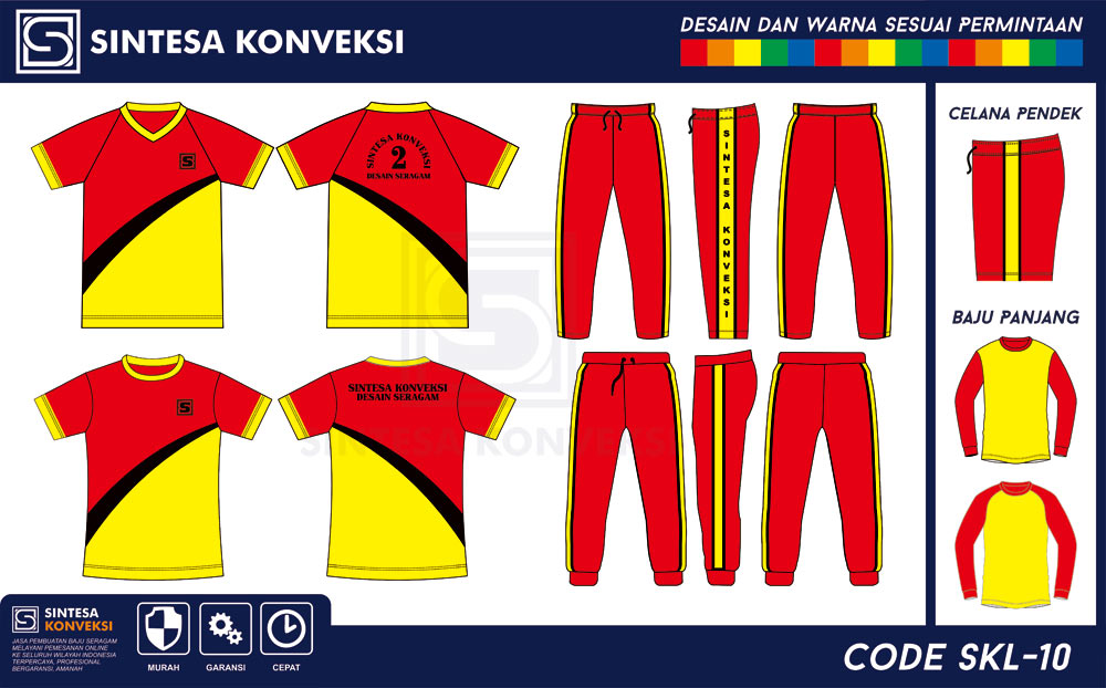 seragam olahraga SMP